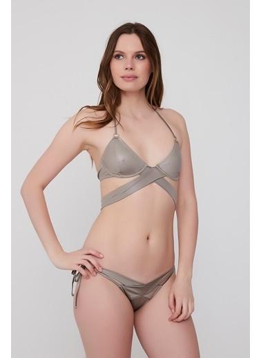 Plumeria Swimwear Üçgen Bikini Takımı Vizon